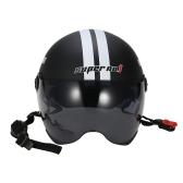 Casque de moto demi ouvert visage taille réglable protection casques de tête unisexe étoile à cinq branches