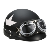 Полукруглый шлем для мотоциклов с очками Козырек-шарф Байкер-скутер