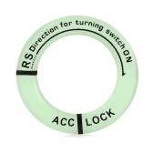 Pokrywa włącznika zapłonu Luminous Key Ring Hole Cover Sticker