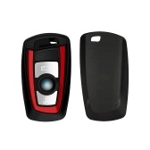 Botón Key Fob Case para BMW Motor Red