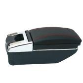 Boîte de rangement rotative de console centrale de repos de bras d'accoudoir universel de voiture sans poinçon