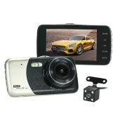 """Kamera KKmoon 4 """"z dwoma obiektywami Kamera DVR Dash z funkcją lokalizacji pojazdu"""