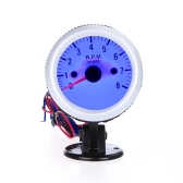 """Tacómetro tacómetro con Copa Soporte para Auto Car 2 """"52mm 0 ~ 8000RPM luz LED azul"""