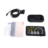 HUD with OBDII Interface Head Up Display Speedometer Safety Support Fuel Consumption