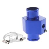 Temperatura wody Temperatura Gauge Wspólne rurka czujnika Wąż chłodnicy Adapter 32mm Niebieskie
