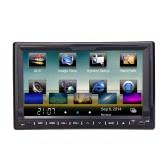 "Universal 7 ""HD écran tactile GPS 2 Din Car DVD / USB / SD Player"