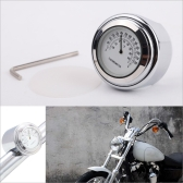 """7/8"""" a 1""""moto guidão mostrador branco prata termômetro para o cruzador Harley Chopper"""