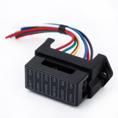 6 manera de la DC32V circuito coche remolque Auto cuchilla fusible caja bloque ATC ATO 2-entrada 6-salida alambre del portador de