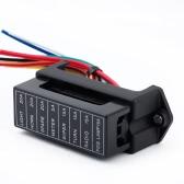 8 manera DC32V circuito coche remolque Auto cuchilla fusible caja bloque ATC ATO 2-entrada 8-salida alambre del portador de