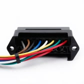 8 Way DC32V Circuit Car Trailer Auto Blade Fuse Box Block Holder ATC ATO 2-input 8-ouput Wire