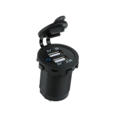 KKmoon DC 5V 2.1A / 1A Dual USB Buchse Ladegerät Handy Ladeadapter für Auto LKW Motorrad Minibus ATV Boat