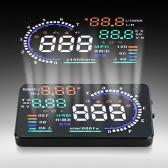 """5.5"""" tela grande Auto carro HUD chefiar Display KM/h e MPH velocidade sistema de projeto de pára-brisa com OBDII Interface Plug & Play de aviso"""
