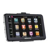 """KKmoon 7 """"HD Écran Tactile Portable GPS Navigateur 128MB de RAM 4GB de ROM FM MP3 Vidéo Bluetooth Système de Divertissement de Voiture avec Stylo pour l"""