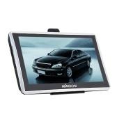 Navegador GPS portátil de 7 pulgadas con pantalla táctil de 1080p HD con soporte trasero + mapa gratuito