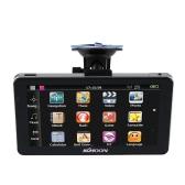 """KKmoon 7 """"Портативный GPS-Навигатор HD экрана 128MB RAM 4GB ROM MP3 FM-видео Игра для развлечение автомобиля с стилусом и бесплатной картой"""