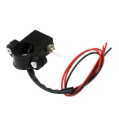 Motocicleta Dual Double Flash aviso interruptor 2,2 cm 2,5 cm diâmetro guiador acessório DIY interruptor ON-OFF para Scooter moto ATV