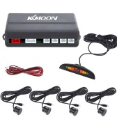 KKmoon Coche LED Aparcamiento Sistema de Radar Reverso de reserva + 4 Sensor Negro