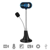 Webcam with Microphone LED HD USB Web Camera Video for Desktop Laptop Gaming Conferencing