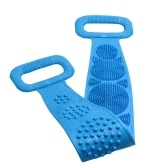 Silicone Back Scrubber, Bath Shower Silicone Body Massage Brush Silicone Bath Towel Exfoliating Body Brush Belt, Cleaning Shower Strap, Double-Sided Washing Towel Scrubber for Men Women, 72cm