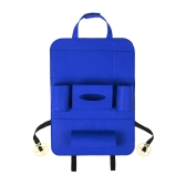Auto Car Backseat Bag Multi-Pocket Seat Bag Wool Felt Storage Container