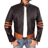 Veste en cuir PU personnalité de moto