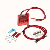 Coche Estabilizador de voltaje digital Universal 12 V Regulador de voltaje eléctrico Rectificador con cables de tierra y kit de hardware de montaje