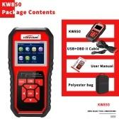 KONNWEI OBDII Scanner Code Reader (KW850) Профессиональный OBDII Anto Scanner Диагностический инструмент для проверки состояния двигателя с легким сканированием для всех автомобилей OBDII с 1996 года