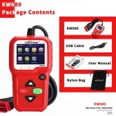 KONNWEI OBDII CAN Diagnostic Tool Car Code Reader KW680 Engine Light Scan Tool OBD II Scanner for Cars Since 1996
