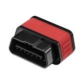 Strumento di scansione diagnostica KONNWEI WiFi OBDII Adapter Reader per Iphone Android PC Auto Scanner di codici (nero rosso) KW903