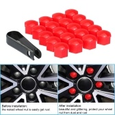 20pcs Universal 19mm Wheel Nut Covers Lug Nut Caps Screw Protector