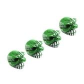 Колпачки для клапанов из алюминиевого сплава Зеленый / КРАСНЫЙ / СЕРЕБРЯНЫЙ Bucktooth Тип Колпачки для шинных клапанов для шин для автомобилей, мотоциклов, велосипедов и велосипедов, 4 упаковки