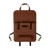 Auto Car Backseat Bag Multi-Pocket Seat Bag Wool Felt Storage Container