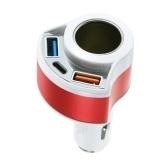 Быстрая зарядка 3.0 + USB Type C + Автомобильное зарядное устройство Быстрое зарядное устройство для iPad iPhone Tablets GPS