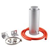 Kühlmittelbehälter 800ml Kühlmittelausgleichsbehälter Kühlmittelauffangbehälter Überlaufbehälter Aluminium Universal