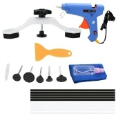 Paintless Dent Repair Tools Kit Bridge Dent Puller Removal Tool with Glue Gun Glue Sticks for Auto Body Motorcycle Refrigerator Washing Machine EU Plug