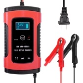 12V 6A  Full Automatic Car Battery Charger Intelligent Fast Power Charging Pulse Repair Charger Wet Dry Lead Acid Battery-chargers Car Jump Starter Emergency Starting Power with Digital LCD Display