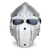 Casco de la motocicleta de la cara completa casco táctico de la bicicleta negro