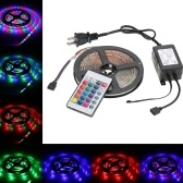 Lumière de bande flexible multicolore de la couleur LED SMD de la télécommande RVB 5M 300 LED