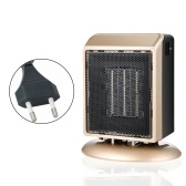 Small Ceramic Space Heater Portable 900W/400W Electric Heater with Overheat/Tip-over Protection Safe&Quiet Ceramic Heater for Home Office Bedroom EU Plug