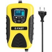 Cargadores de batería de inteligencia para automóviles, motocicletas, plomo, ácido, pantalla LCD inteligente, cargador de baterías de automóvil