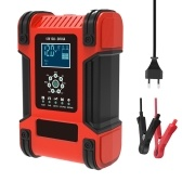 12V 24V 12A Cargador de batería inteligente automático de 7 etapas Cargador de batería de coche multifunción