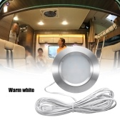 Recessed 12LED RV Boat Recessed Ceiling Light 12V Led Lights Round Shape Ultra-Thin Camper Interior Lighting Small Downlight with Cable
