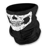 Unseamed Bandolera Multifuncional Cráneo Bandana Casco Máscara facial de cuello Bufanda térmica Halloween Props