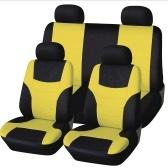 Tampas de Seat universais luxuosas do couro luxuoso de pano da malha da parte traseira da Frente-qualidade auto