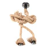 Lixada 350cm AC110V E26/E27 Double Head Vintage Hemp Rope Pendant Lamp