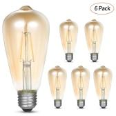 AC200-240V 6 piezas bombillas de filamento LED 4W ST64 LED