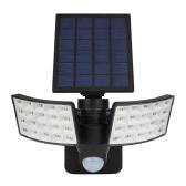 Solar Powered Wall Light PIR Motion Sensor Lighting Sensor Two-Sided Illumination Wall Light