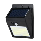 Lámpara de detección de movimiento de panel solar IP65 de 110 LED