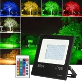 10W LEDs RGB Floodlight with Remote Control 16 Colors 4 Lighting Modes Brightness Adjustable Flood Lamp