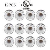 UL Certificate 12 Packs E26 to E12 Lamp Holder Base Adapter Converter Medium Screw to Candelabra Screw Socket